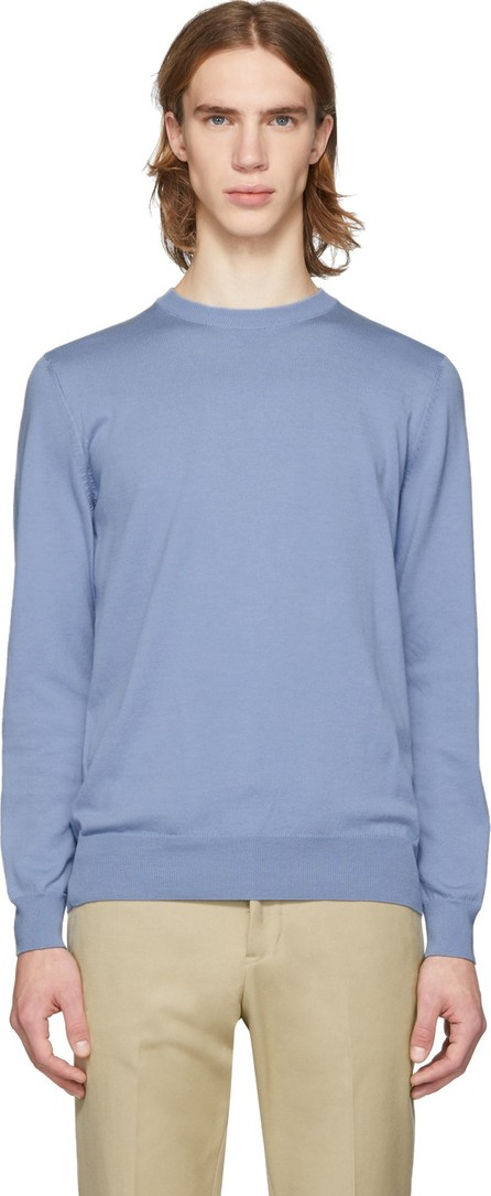 BOSS Hugo Boss Blue Cotton Crewneck Sweater
