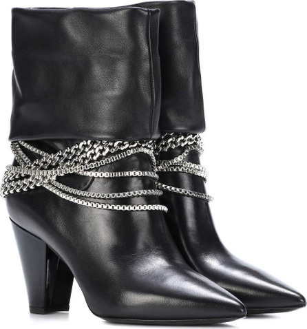 Self Portrait Sadie leather ankle boots