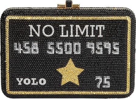 Judith Leiber Black Card Slim Minaudiere Card Case