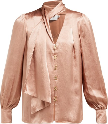Aje Astrid neck scarf hammered-silk blouse
