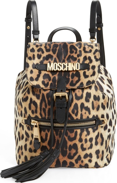 Moschino Leopard Print Backpack