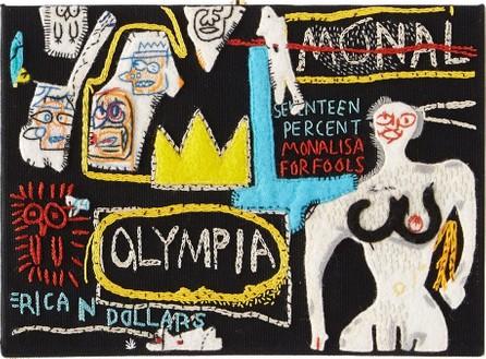 Olympia Le-Tan X Basquiat Olympia crown book clutch