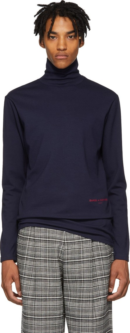 Daniel W. Fletcher Navy Logo Turtleneck