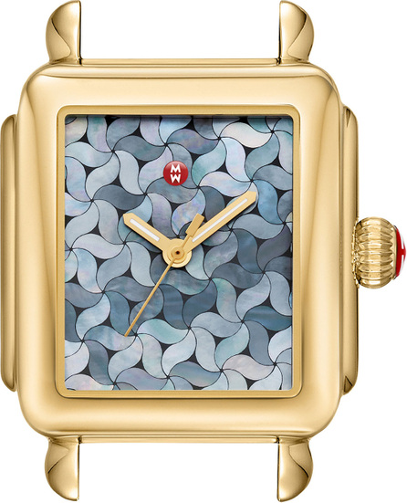 MICHELE 18k Gold Deco Mosaic Watch Head