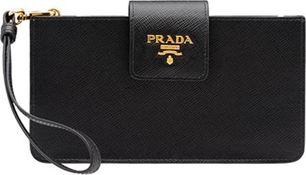 Prada iPhone® Case Wallet On Chain