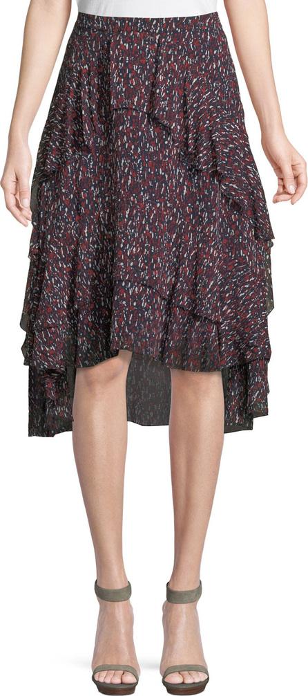 Joie Brigida Tiered Silk High-Low Skirt