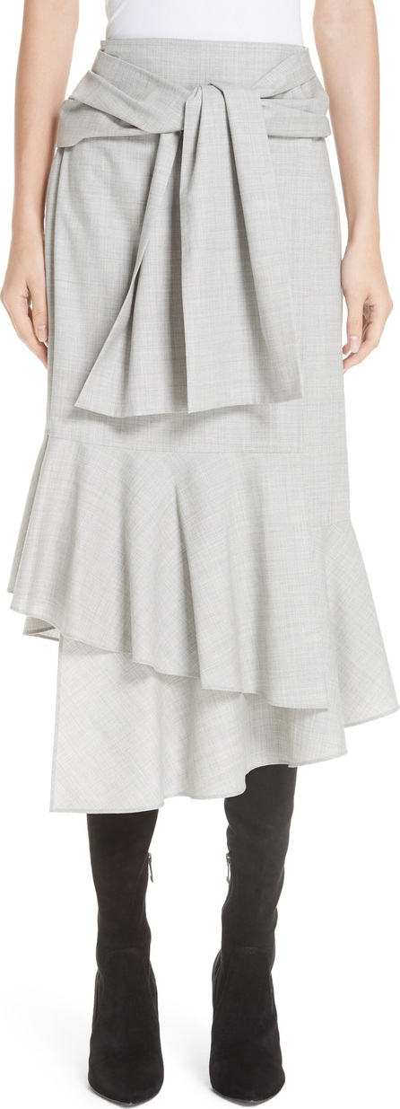 ADEAM Ruffled Suiting Skirt