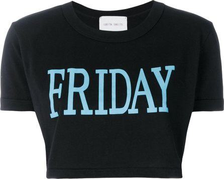 Alberta Ferretti Friday print cropped T-shirt