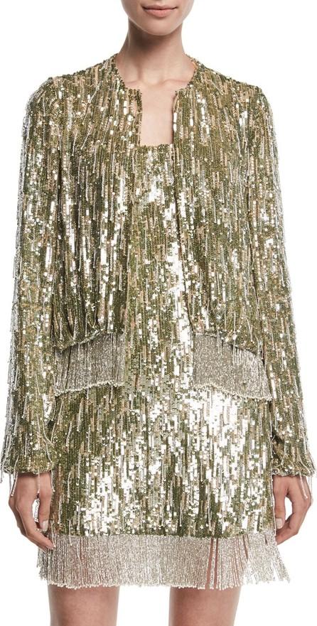 Alexis Ingram Sequined Fringe Metallic Jacket
