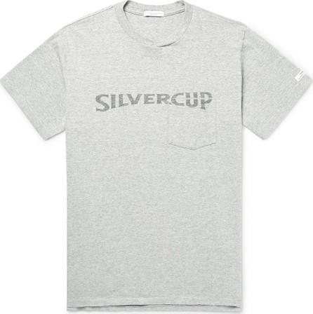 Engineered Garments Printed Mélange Cotton-Blend Jersey T-Shirt