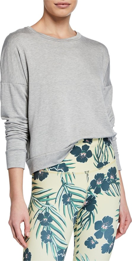 Beyond Yoga Color-Streak Long-Sleeve Cropped Pullover