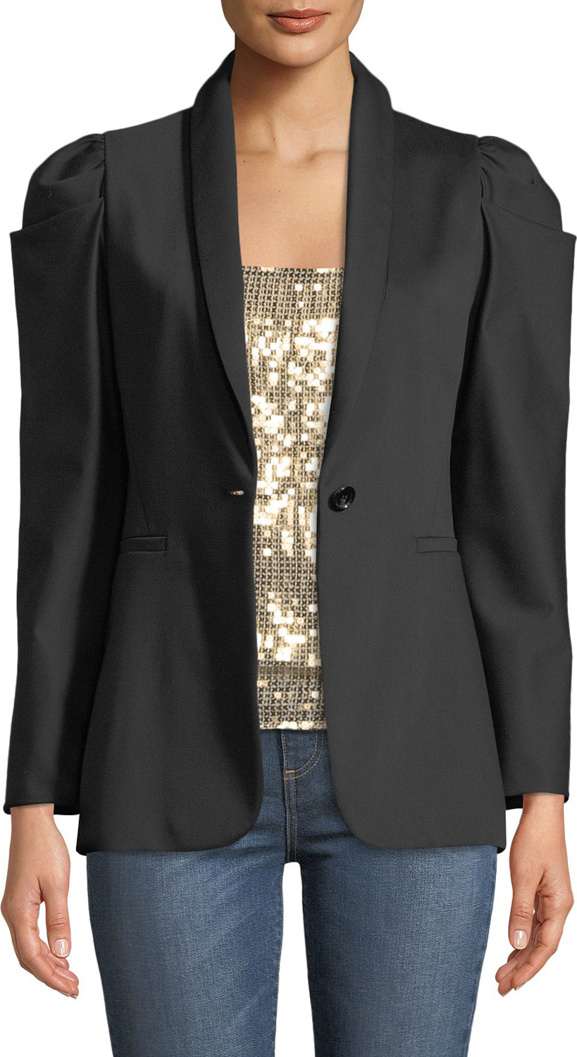 Alice + Olivia - Morina Puff-Sleeve Single-Button Blazer