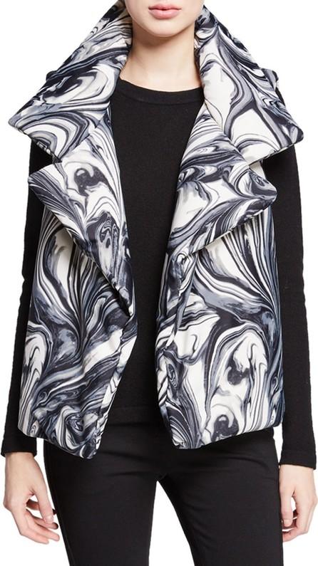 Norma Kamali Sleeping Bag Printed Open-Front Puffer Vest