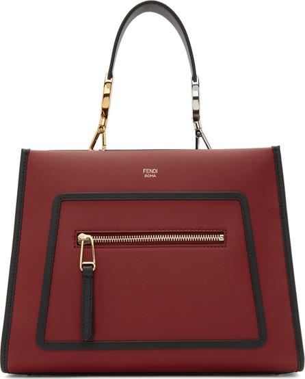 Fendi Red Small Runaway Tote Bag