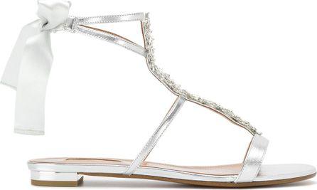 Aquazzura Embellished tie back sandals
