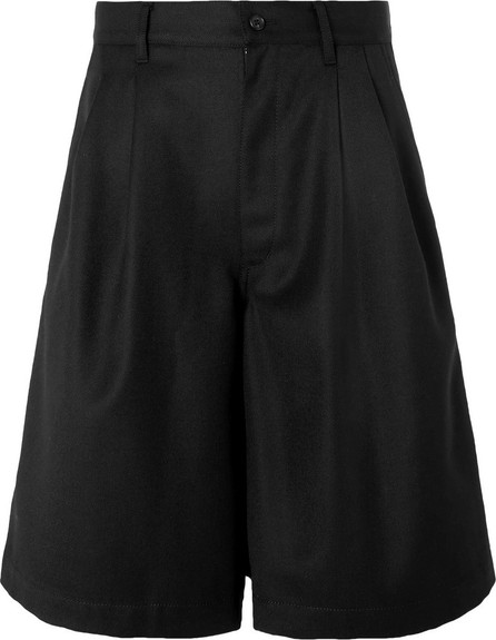 Comme Des Garcons Wide-Leg Pleated Wool-Twill Shorts