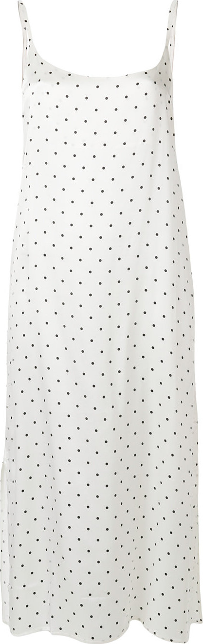 Asceno Polka dot slip dress