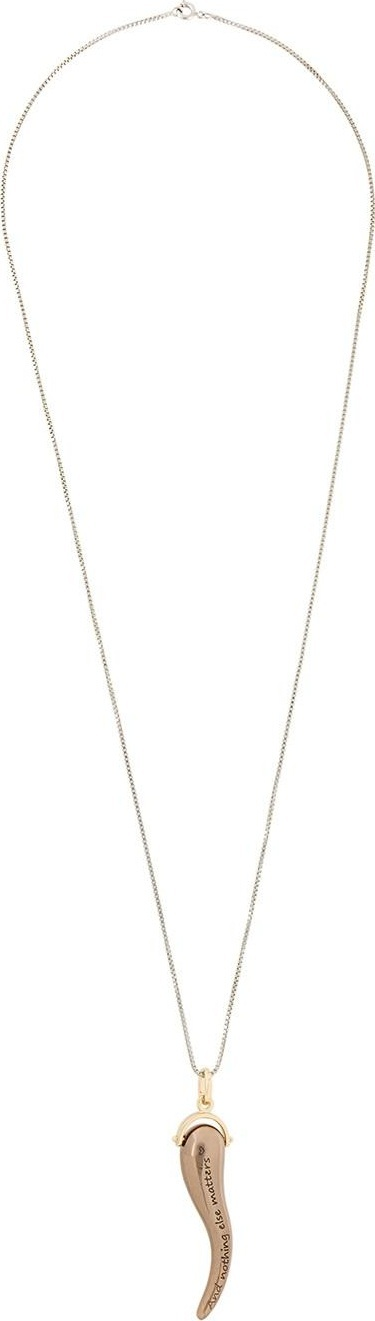 Golden Goose Deluxe Brand horn pendant necklace