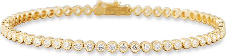Memoire Diamond Line Bracelet in 18K Yellow Gold