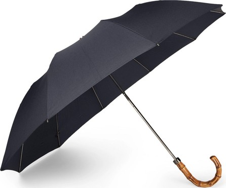 London Undercover Wood-Handle Telescopic Umbrella