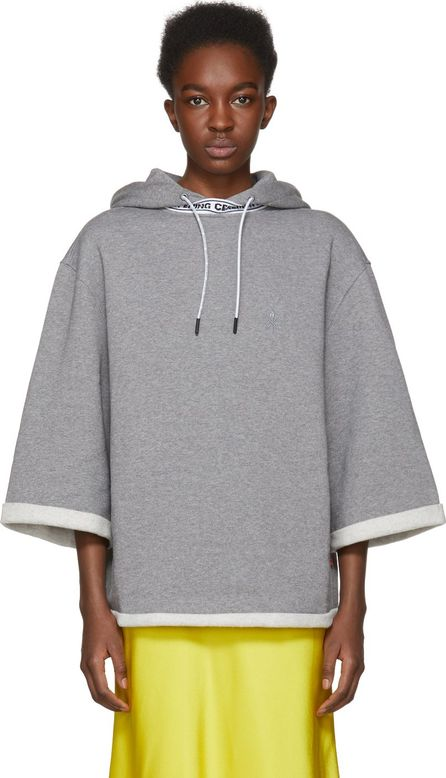 Opening Ceremony Grey Short Sleeve Banded Hoodie