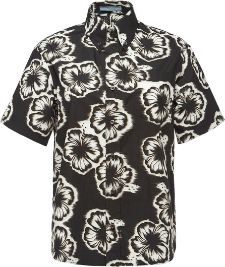 Prada Hibiscus print button down shirt