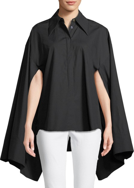 A.W.A.K.E Button-Front Kimono-Sleeve Cotton Shirt