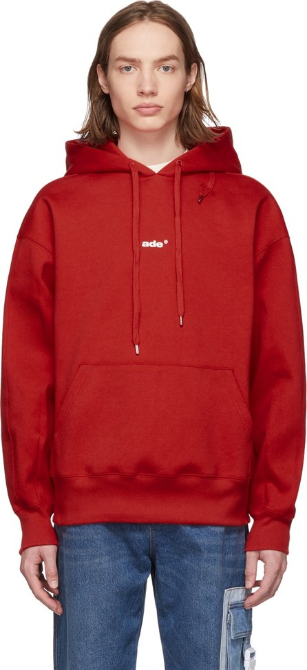 ADER error Red Small Logo Hoodie