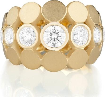 Carelle Disco Dots Diamond Bezel Ring in 18K Gold, Size 6.5