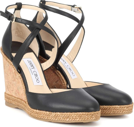 Jimmy Choo Alita 105 leather wedge sandals