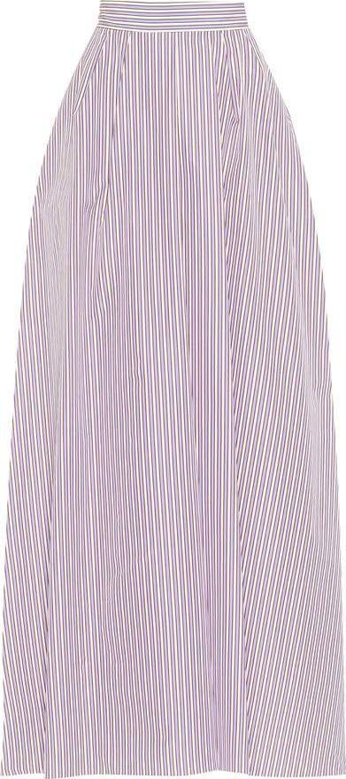 ROCHAS Striped cotton maxi skirt