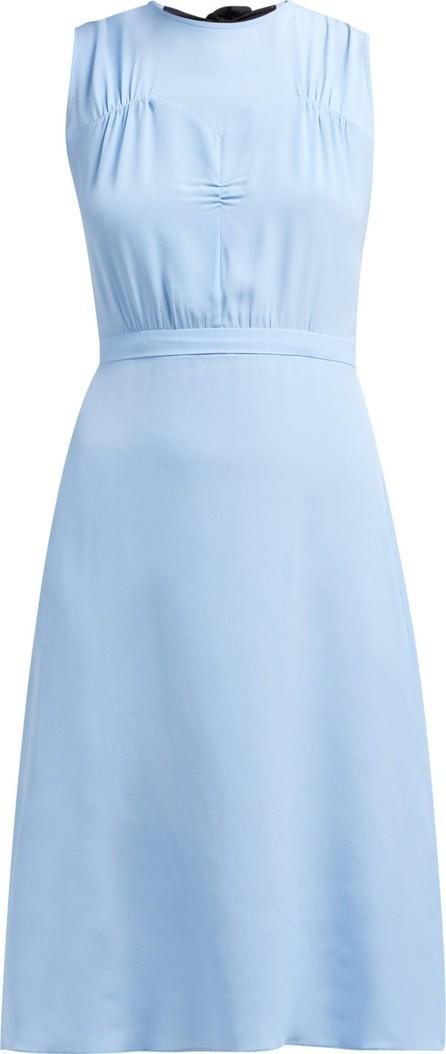 Nº21 Bow-back crepe de Chine shift dress