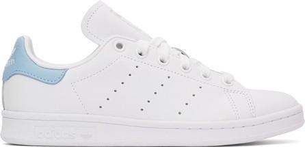Adidas Originals White & Blue Stan Smith Sneakers