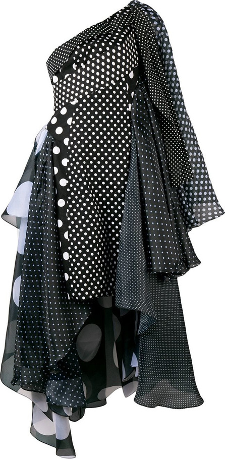 Richard Quinn Polka dot asymmetric dress