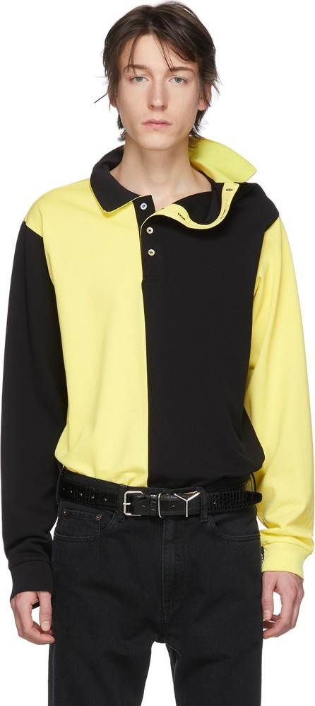 Y/Project Black & Yellow Asymmetric Collar Polo