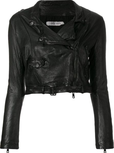 Giorgio Brato Cropped leather jacket