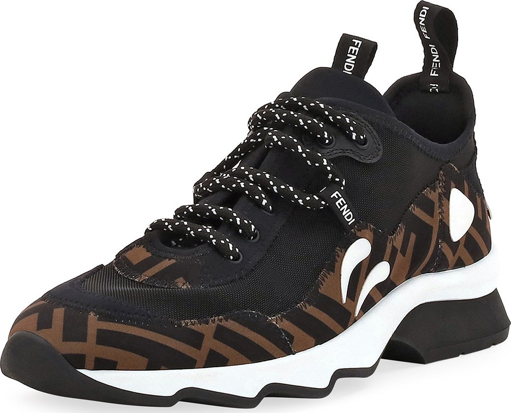 Fendi Freedom FF Patchwork Sneakers - Luxed