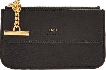 Chloe Drew grained-leather card holder