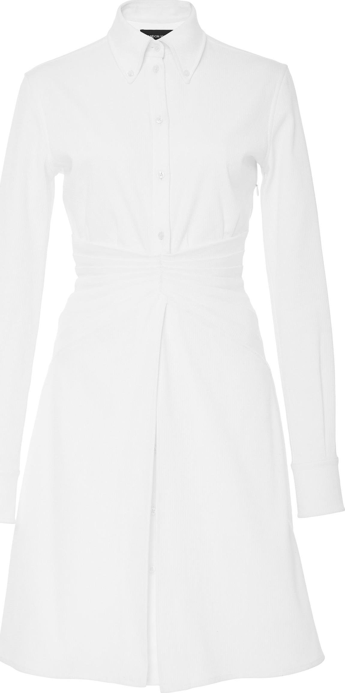 abe450fef42 Brandon Maxwell Mirror Pleat Shirt Dress - Mkt