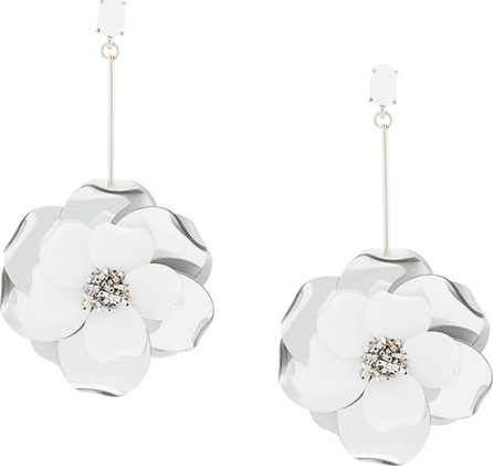Oscar De La Renta Paillette flower earrings