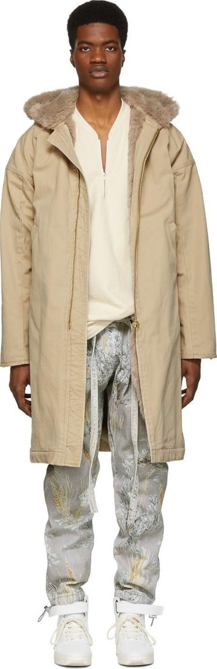 Fear of God Beige Hooded Deck Coat