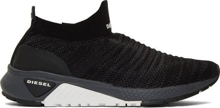 Diesel Black S-KB Athletic Sock Sneakers