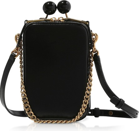 MARC JACOBS Black Leather The Vanity Clutch