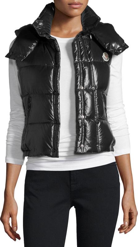 Moncler Galene Shiny Hooded Vest