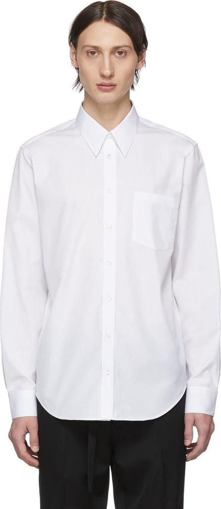 Helmut Lang White 'Kollection' Print Poplin Shirt