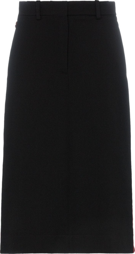 Calvin Klein 205W39NYC Side buttoned wool pencil skirt