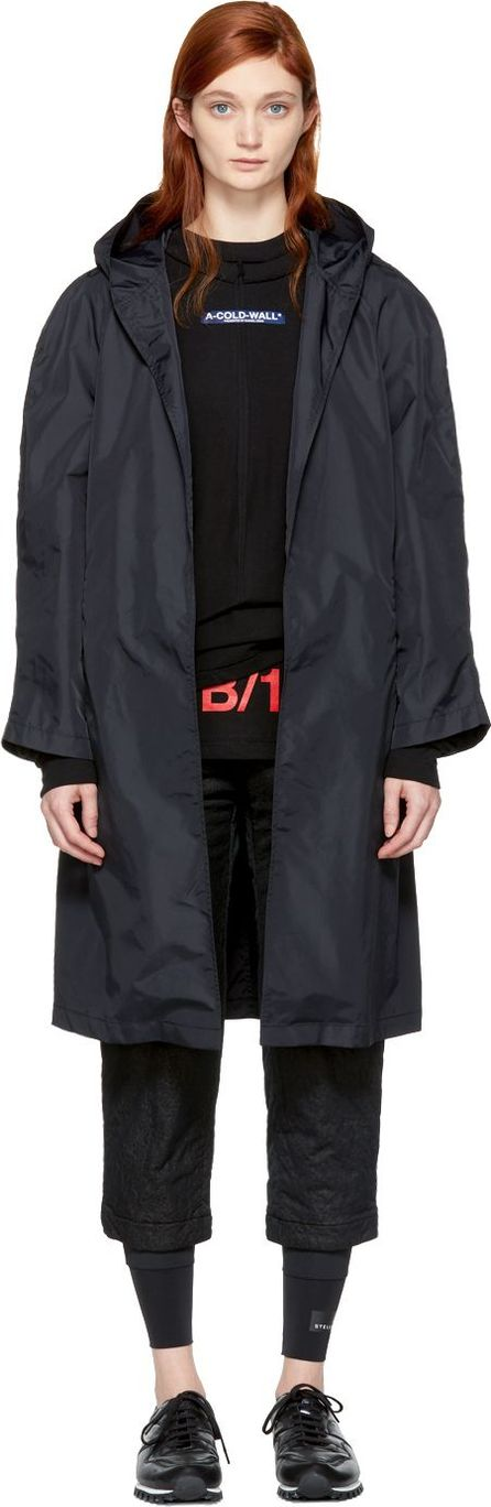 A-Cold-Wall* Black Lightweight Hooded Coat