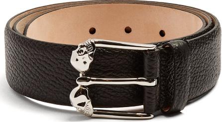 Alexander McQueen Twin-skull leather belt