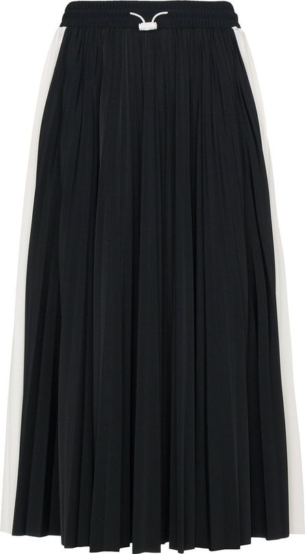 Valentino Pleated midi skirt with lace inserts
