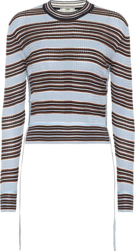 Fendi Striped silk-blend sweater